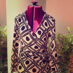Diane Von Furstenberg Vintage Wrap Blouse